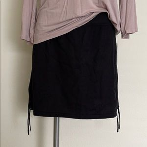 Athleta Revele Drawstring Mini Skirt Black NEW
